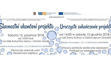 """Pozvánka na Slavnostní ukončení projektu """"Rok tradic a obyčejů 2018"""""""