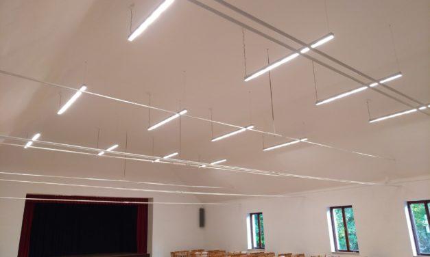 Modernizace osvětlení v kulturním domě